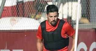 Nolito se ejercita en la ciudad deportiva (foto: J. Spinola)