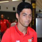 Borja Lasso, en el aeropuerto de San Pablo (foto: J. J. Úbeda)