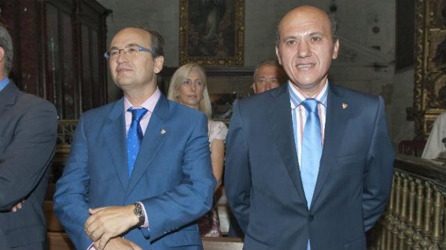 José Castro y José María del Nido, en un acto del Sevilla (Foto: Felipe Guzmán)