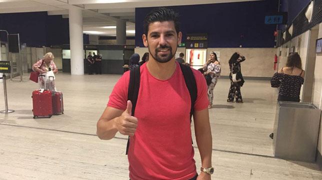 Nolito, en el aeropuerto de San Pablo (Foto: SFC).