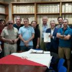 Imagen del primer acto de sindicación de acciones del Sevilla de la asociación Accionistas Unidos (Foto: @Accionistas_SFC )