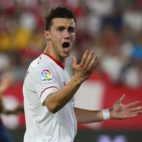 Corchia, durante el Sevilla-Espanyol (foto: AFP PHOTO / CRISTINA QUICLER)