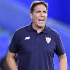 El entrenador del Sevilla, Berizzo, durante el encuentro disputado en Getafe (Foto: AFP)