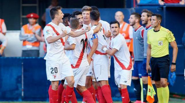 Celebación del Sevilla Atlético