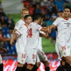 Ganso celebra su gol en el Getafe-Sevilla (Foto: SFC)