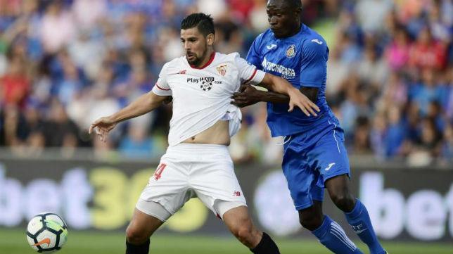 Nolito, en la imagen, durante el Sevilla-Getafe (AFP)