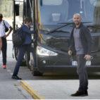 Monchi, ayer, a su llegada a Sevilla (Foto: J. M. Serrano)