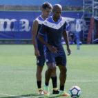 Naldo, en el entrenamiento matinal del Espanyol (Foto: @RCDEspanyol)