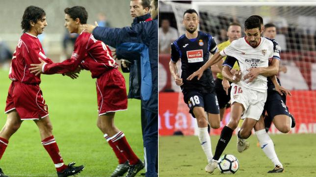 Navas, 13 años, 8 meses, y 25 días después, ante el mismo rival, el Español (del debut al último partido)