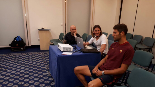 Fazio también se vio las caras este viernes con Sampaoli en Sevilla