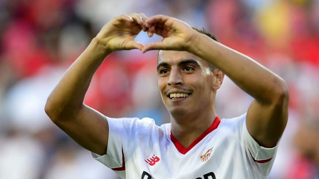 Ben Yedder celebra su gol en el Sevilla FC-Eibar