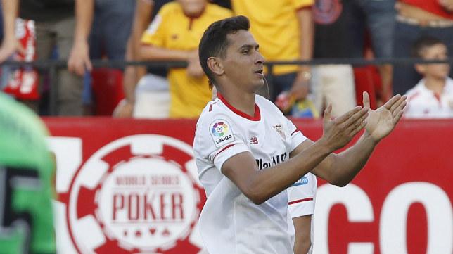 Ganso celebra su gol ante el Eibar