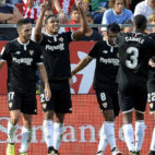 Muriel celebra el gol del Sevilla FC en Girona