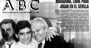 La portada de ABC de Sevilla recogió al día siguiente la mediática incorporación, que dio la vuelta al mundo