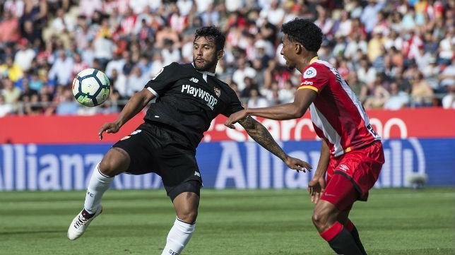 Montoya, en el Girona-Sevilla (AFP)