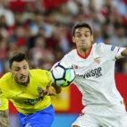 Jesús Navas, en el Sevilla-Las Palmas (AFP)