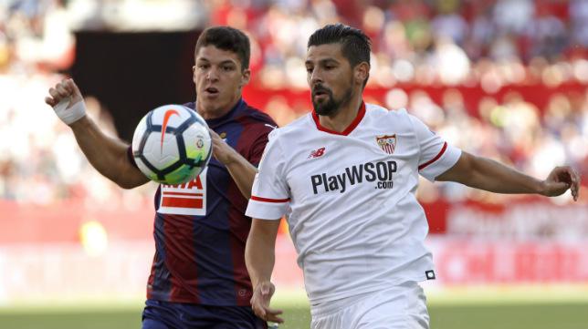 Nolito, durante el Sevilla FC-Eibar