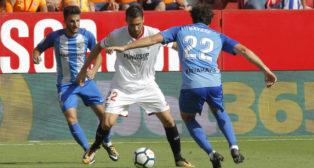 Franco Vázquez, durante el Sevilla FC-Málaga
