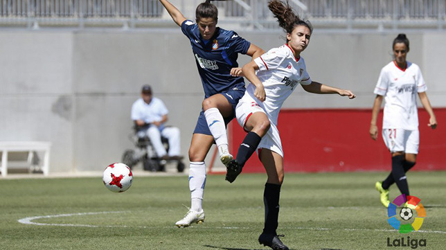 Lance del Sevilla FC Femenino-RCD Espanyol
