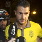 Vitolo, ayer, a su llegada a Sevilla