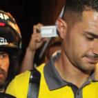 Vitolo, a su llegada este martes a Sevilla (Foto: Juan José Úbeda)