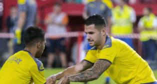 Vitolo, en el Sánchez-Pizjuán para el partido Sevilla-Las Palmas (J. J. Úbeda)