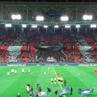 Ambiente del Spartak-Sevilla FC