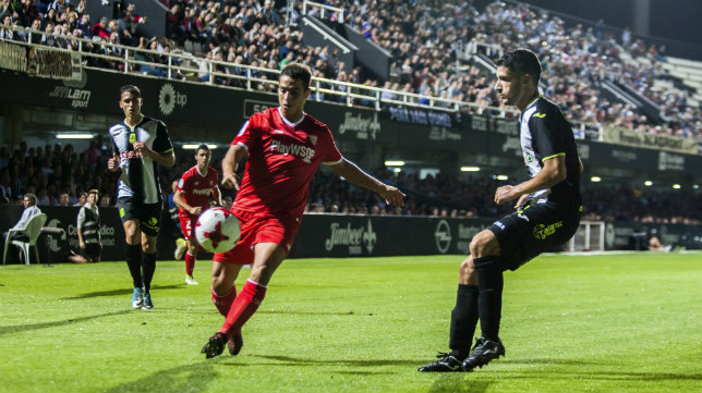 Ben Yedder, en un lance del Cartagena-Sevilla FC