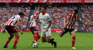 Correa, en el Athletic Bilbao-Sevilla (EFE)