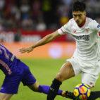Correa y Zaldúa en un lance del Sevilla FC-Leganés
