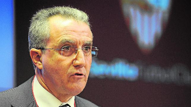 Eduardo Arenas, durante una junta de accionistas del Sevilla FC