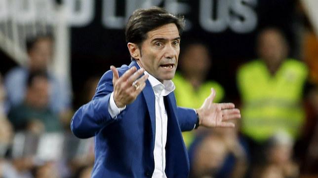 El técnico del Valencia CF, Marcelino García Toral