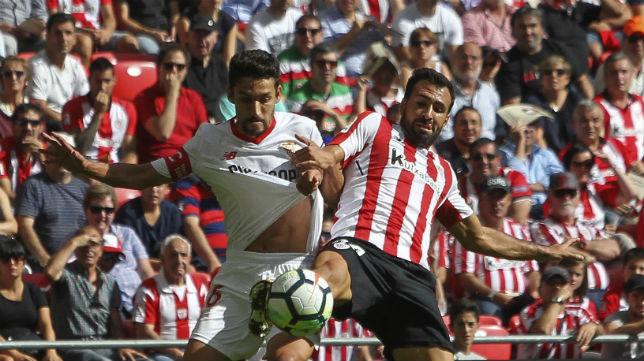 Navas, en el Athletic Bilbao-Sevilla (EFE)