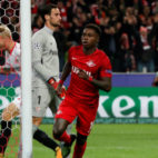 Promes celebra el primer gol del Spartak ante el Sevilla FC (Foto: AFP)