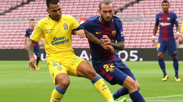 Aleix Vidal, durante el Barça-Las Palmas de la jornada 7ª