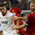 Ben Yedder, en el Sevilla FC-Liverpool