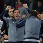 Berizzo celebra un gol del Sevilla ante el Spartak (Reuters)