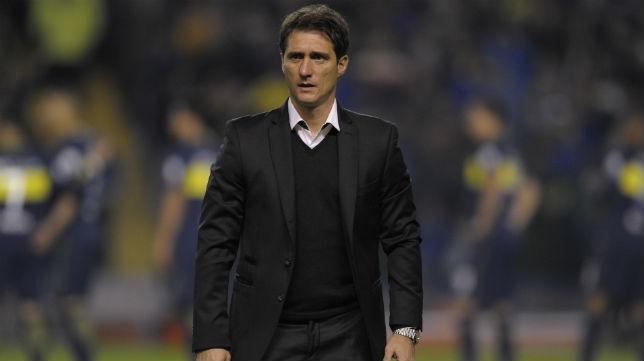 Guillermo Barros Schelotto, en un duelo de Boca Juniors