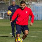 Gabriel Mercado, en un entrenamiento (Foto: Sevilla FC)