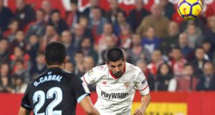 Nolito marca el 2-1 ante el Celta (Foto: EFE).