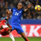 Nzonzi, en un lance del Francia-Gales disputado este viernes en el Stade de France