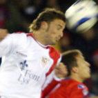 Puerta, en un lance de aquel Numancia-Sevilla FC