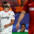 Sarabia, en el Sevilla-Spartak (J. J. Úbeda)