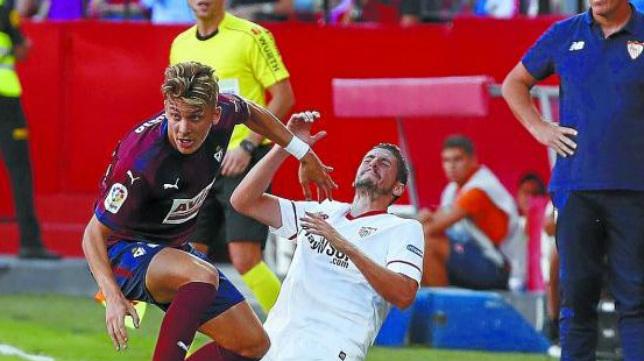 Iván Alejo, en el Sevilla-Eibar