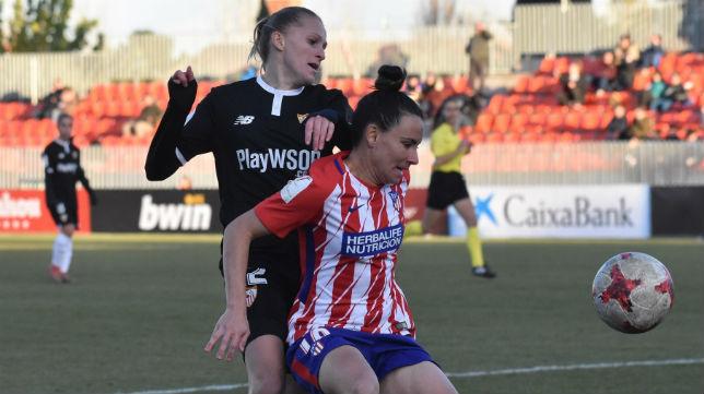 Lance del Atlético de Madrid-Sevilla Femenino jugado hoy en Madrid (Foto: SFC)