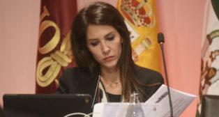 Carolina Alés, en la junta de accionistas del Sevilla (Jesús Spínola)