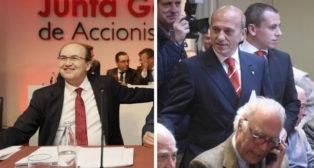 José Castro y José María del Nido, en la junta de accionistas del Sevilla
