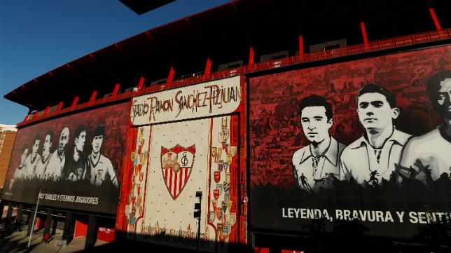 Imagen del mosaico de preferencia del estadio Ramón Sánchez-Pizjuán