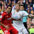 Mercado, en un lance del Real Madrid-Sevilla FC