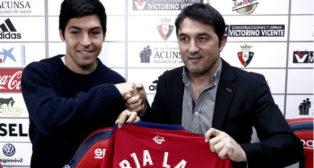 Borja Lasso, en su presentación con el Osasuna (Foto: EFE)